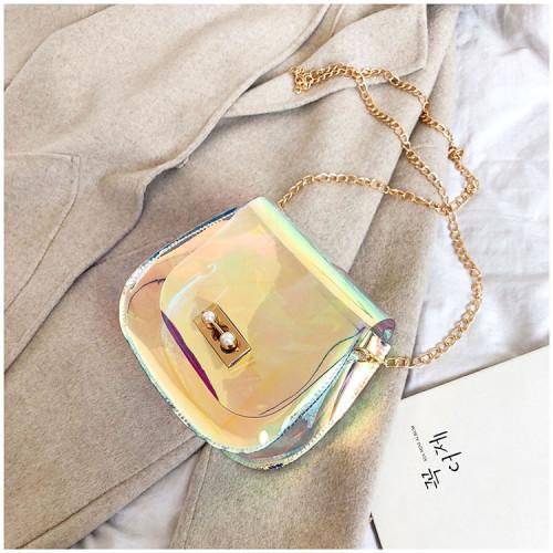 Razor transparent bag inclined jelly saddle bag JY7403