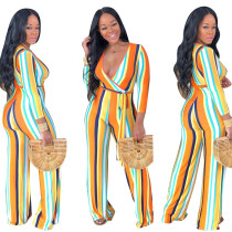 Leisure V Neck Woman Jumpsuit For Daily Wear R6154