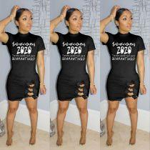 Printed dress spot MD307