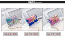 Colorful personality laser jelly bag shoulder Messenger bag G61369-906