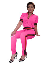 Pink Two Piece Sets Fashion Outfits W8160