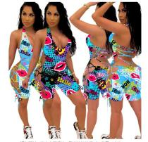 Women's fashion casual printed sexy dress TY1821
