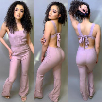 Casual Fashion Sweet Sling Jumpsuit T3319H
