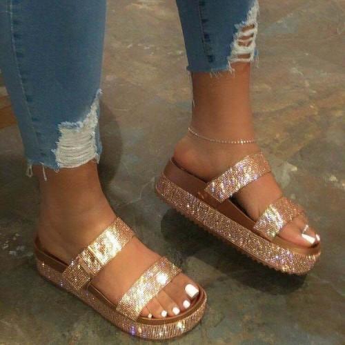 Rhinestone sandals and slippers HWJ062