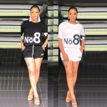 Leisure Outdoor Black/White Two-Pieces Summer Outfits YYZ633