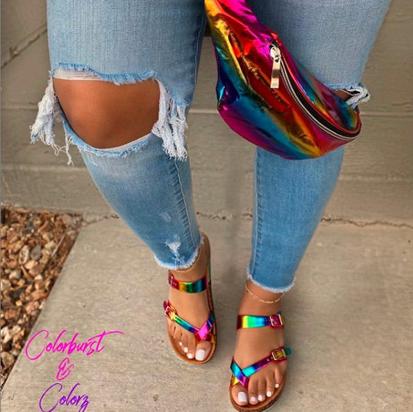 Crystal shoes slippers beach shoes BY9243