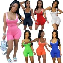 Women's short casual sports jumpsuit R6296