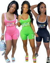 Summer women's short casual sports jumpsuit R3052