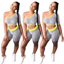 Single sleeve striped sports suit NK098