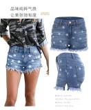 Burrowed fringed shorts YY668