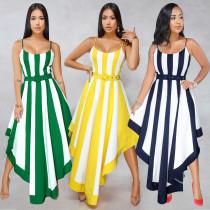 Leisure Women Spaghetti Strap Midi Dress Without Belt ALS080
