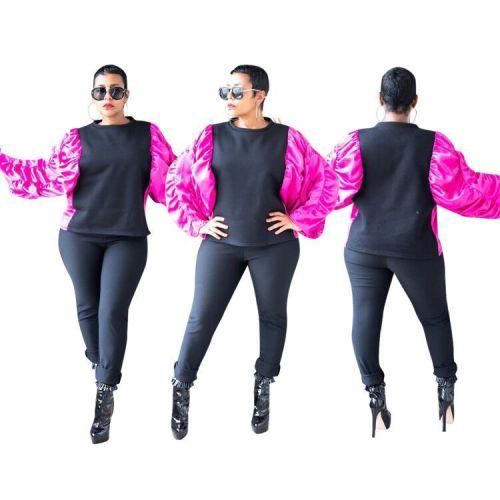 Sports Shirt Loose Ruffle Puff Sleeve Hoodie For Daily Wear MF5135