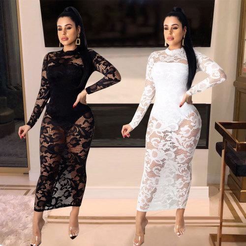 Lace Jumpsuit + Lingerie Nightclub Women's Two-Piece Skirt Set WMZ2547