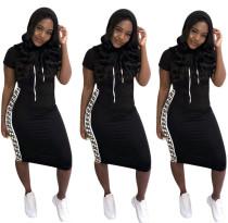 New Arrival Short Sleeves Women Dress For Daily Wear OMM1080
