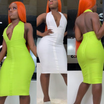 Women's Backless Fashion Halter Dress YS6075