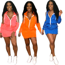 Sexy solid color sports casual dress L0305