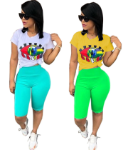 Plus Size Casual Women 2 Pieces Summer Outfits N9097