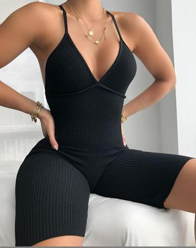 New hot selling Ebay ladies sexy backless sling pit slim bodysuit FF1010