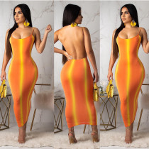 Digital printed nightclub dress YS6058