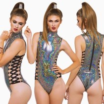 Colorful laser sexy tether one-piece swimsuit QS-1825