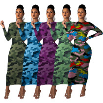 Camouflage dress YLY005