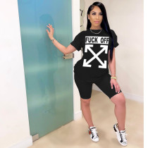 Two-piece sports letter print set CY8547
