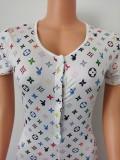 Cute printed jumpsuit FF1018