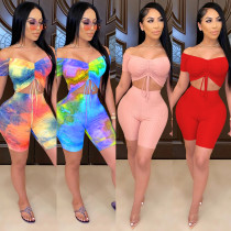 Fashion sexy breast-wrapped two-piece one-shoulder women CYF3603