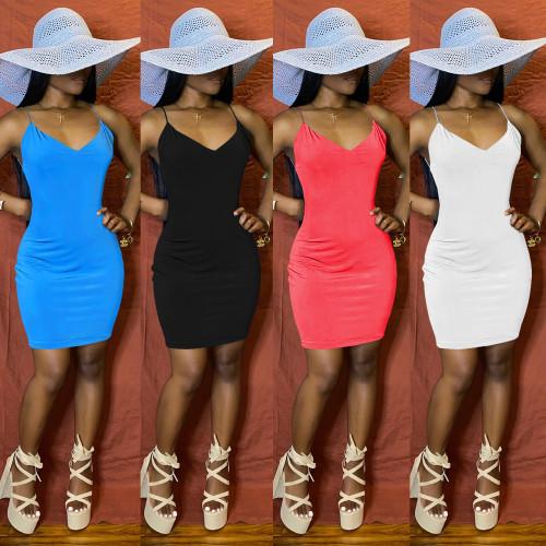 Sexy nightclub suspender halter dress XZ3642