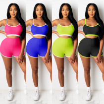 Ladies yoga short camisole two-piece suit CYF3635