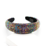 Fashion Colorful Crystal Beads Gorgeous Sponge Temperament  Wild Hair Accessories JB11734178