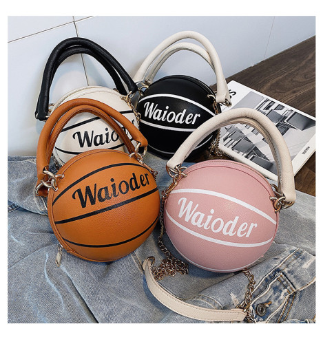 Personalized Shoulder Messenger Basketball Chain Bag XJH02154