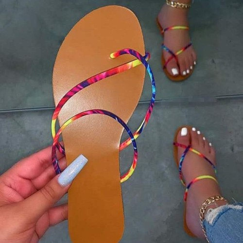 Women's shoes colorful flip flops flat sandals and slippers women 37-42 HWJ139