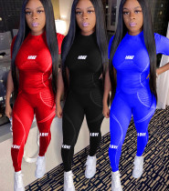 Fashion women's letter printing sports casual suit YZM7037