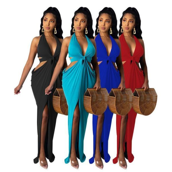 Irregular Halter Halter Dress Dress ME2849