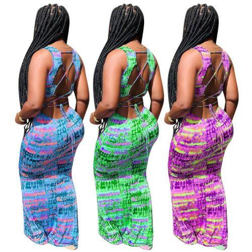 Sexy print dress MTY6385