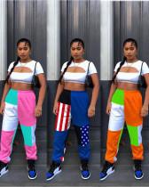 Women's cute stitching track pants MTY6369