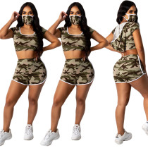 Casual sports women's camouflage suit with hat YY5197