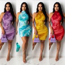 Fashion print sexy ladies dress CYF3610