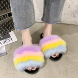 Women\'s shoes soft fluffy camouflage plush home slippers women 36-41 HWJ149