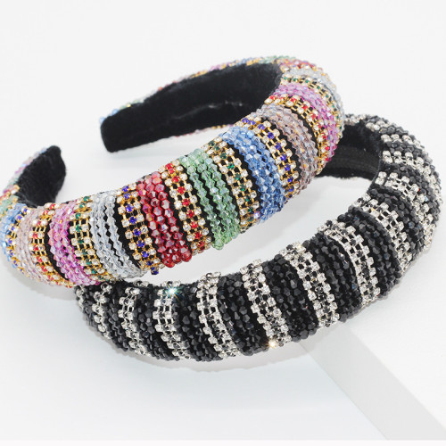 Baroque Colorful Hair Band Sponge Luxury Prom  Catwalk Hair Accessories JB122700004