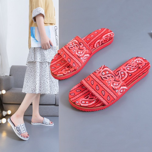 New women's shoes ethnic style flat cloth 35-43 large size sandals and slippers women HWJ154