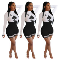 Spades Q sports casual long-sleeved jumpsuit NK165