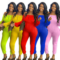 Solid color tight-fitting camisole pleated pants sexy jumpsuit R6316