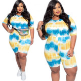 Womens front and back wear plus size fashion home sports one-piece shorts suit AJ4207