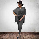 Loose personality fashion casual two-piece suit plus size women's suit OSS20834