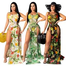 Sexy fashion summer hot-selling super stretch multicolor mesh beach dress SMR9680