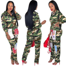 Camouflage Slim Suit Fall Winter R6329