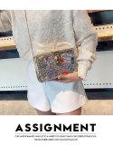 Box small square bag fashion chain trend graffiti casual messenger bag women JC177-0035