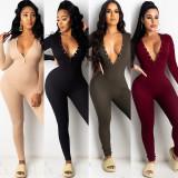 Sexy Womens slim long-sleeved one-piece nightclub clothes KA7126